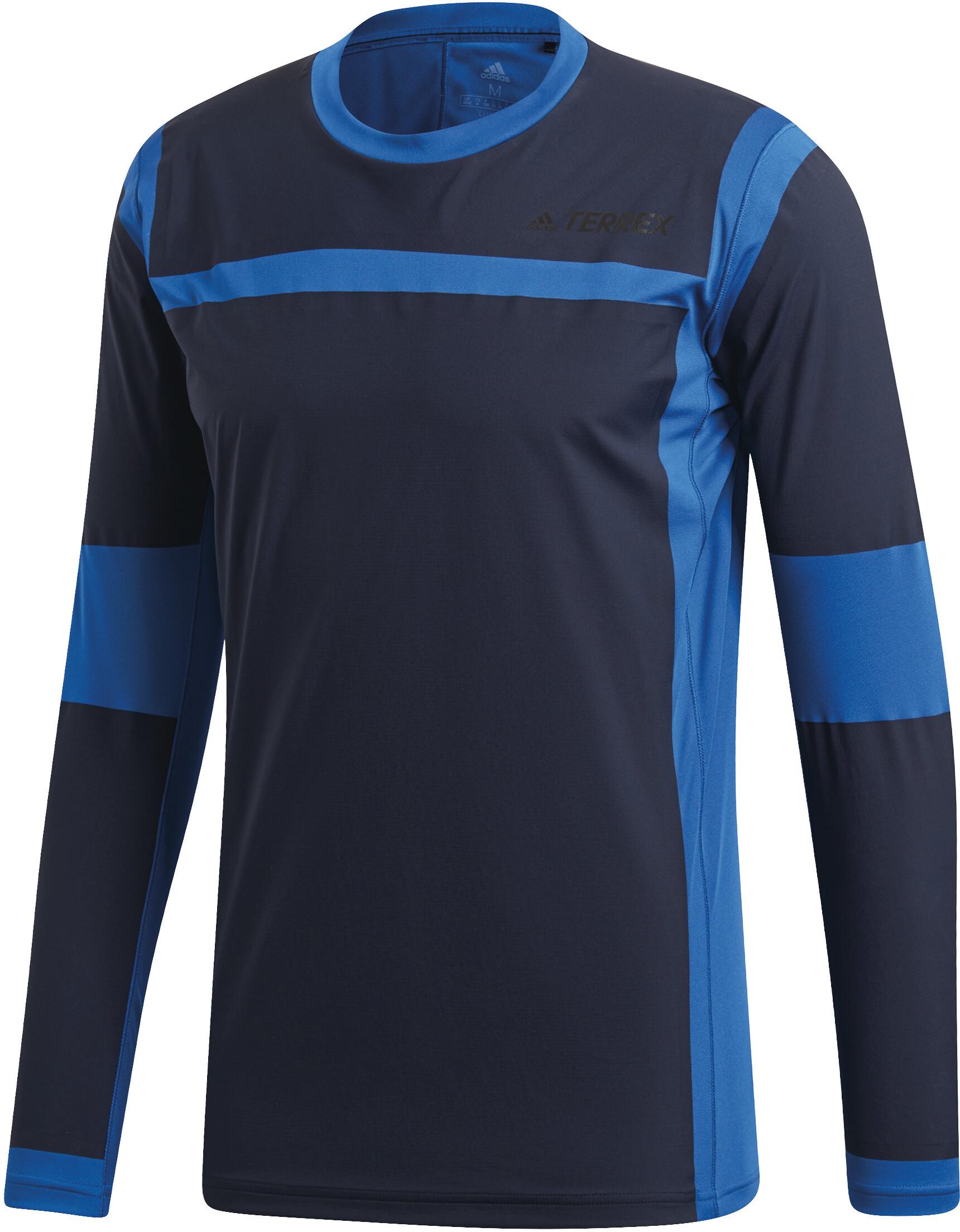 874b4e119e4a2 adidas TERREX Agravic - Camiseta manga larga running Hombre - azul ...